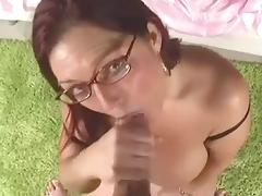 BBW Head #405 Thick Redhead Four-eyes Cougar