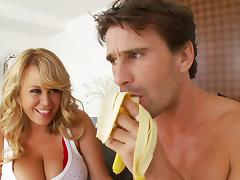 Hardcore sex scene with huge-breasted blond mom Brandy Talore