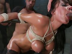 Anal gang bang in prison for busty Anissa Kate