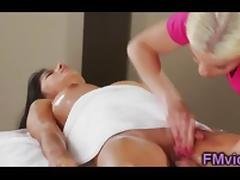 Britney Amber and Megan Salinas massage