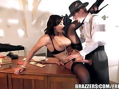 Brazzers - Anna Polina sucks some cops cock