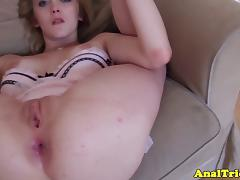 Cumshot loving flexible girlfriend assfucked