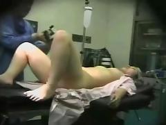 Medical hidden cam shows a cougar, naked