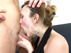 Horny real mother fucks hard her young lover