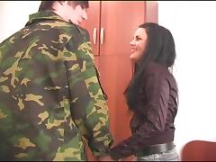 She loves it when a military guy lays the pipe to her