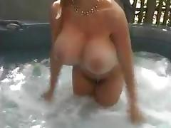 Alena Snow in the pool