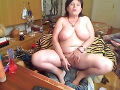Nasty 52 year old granny masturbating