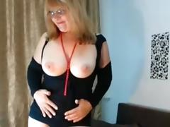 My hot homemade mature shows me posing in stockings