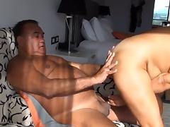 Mature amateur Asian wife banged on couch and bed