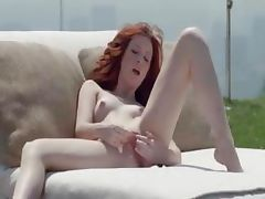 Red smart summer pussy rubbing