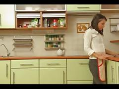Kitchen videos. When excited couples are willing to make out then kitchen can be the area