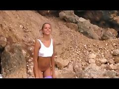 Russian girl Katya - wild beach