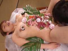 Shiori's magnificent body looks so good during the pussy pounding!