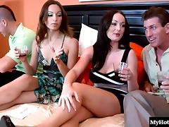 Amber Rayne and Melissa Lauren take off their panties