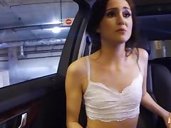 Renee Roulette sucks a cock in the car