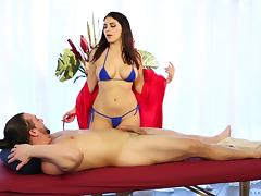 Busty Valentina Nappi rides the dick like none other girl can