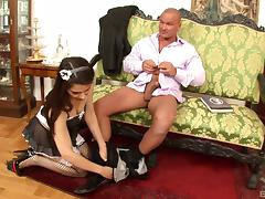 Valentina Nappi is a crazy sexy maid who is about to get very nasty