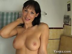 Busty MILF Angela Masturbating