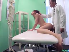 fake doctor needs to test out her cunt