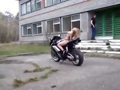 Bike topless stripper