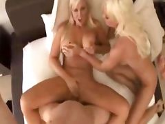 Hot sex with two amazing blondes
