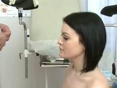 Brunette Sucks Her Doctors Cock For Test
