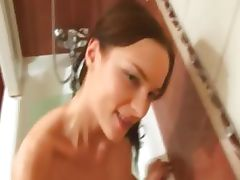 Action and penis sucking in a bathroom