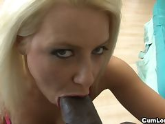 Les steele surprises anika albrite with his cock