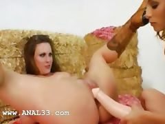 two girsl fucking anal with gay
