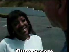 Guy Fucking Afro Black Slut Outdoor In Car