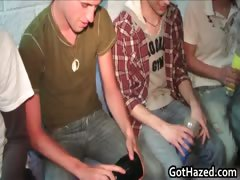 Fresh straight college guys get gay