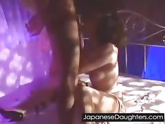 Japanese teen fucked hard in her ass
