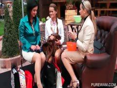 Lesbos get wet in outdoor WAM scene
