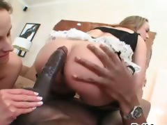 Brutal black penis and anal games