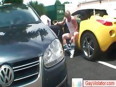 Blonde guy getting pooper banged part1