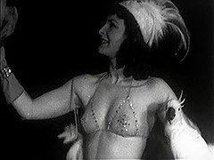 Burlesque Beauty's Teasing Dance with Birds 1940