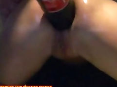 Extreme insertion the bottle of coke in the ass Insercion extrema con botella