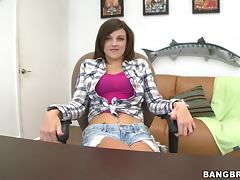 Country Girl Gets Cum On Her Ass After Riding