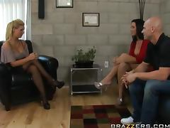 Hot Threesome Between Hot Couple And the Sexy Dr Phoenix Marie