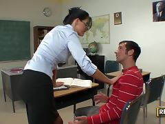 Foxy Brunette Teacher India Summer's Wet Tutoring Session
