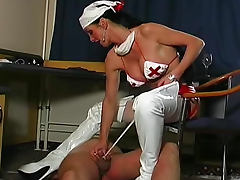 Latex nurse mistress pisses