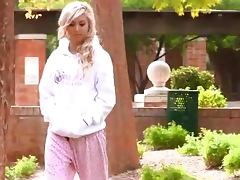 Hot Front Yard Exhibitionism With The Blonde Teen Callie