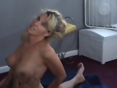 Slut wife talking with hubby while stranger fucks her