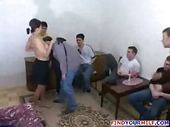 Mature mom gangbanged by teens