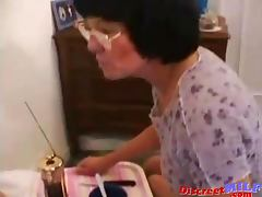 MILF with glasses gets fucked deep anal