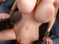 Gorgeous animated gets pounded