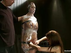 Girl Gets Totally Wrapped Like a Mummy in Extreme Bondage Video