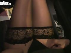 Blindfolded hottie Marga enjoys sucking some guy's prick
