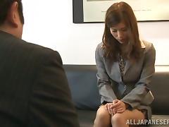 Yuria Ashina gets her Japanese coochie fingered and toyed indoors