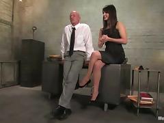 Bald Guy Dominated by Cock Riding Vixen Bobbi Starr